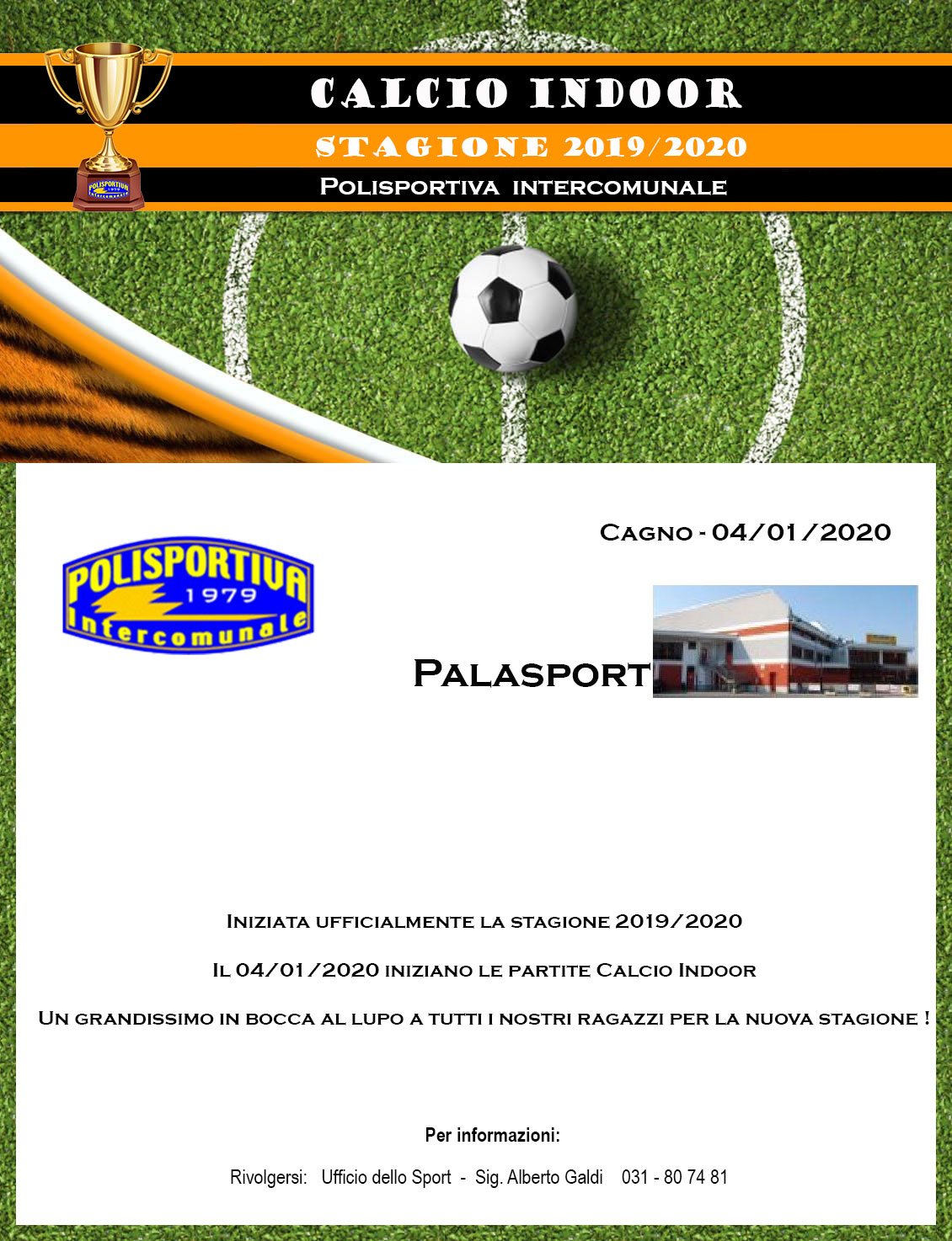 calcio Indoor 2019 2020